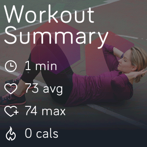 Fitbit Versa coach workout summary