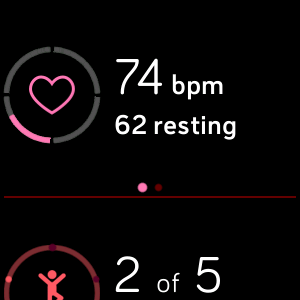 Fitbit Versa Today app heart rate
